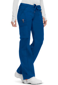 Code Happy Antimicrobial + Fluid Barrier Protection Low Rise Drawstring Cargo Scrub Pant for Women*
