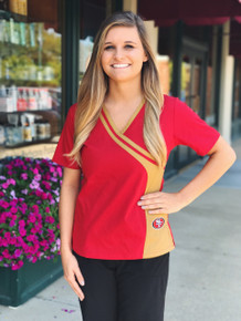 San Francisco 49er's NEW Women's NFL Scrub Top