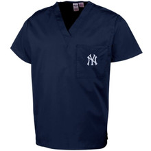 New York Yankees MLB V Neck Scrub Top