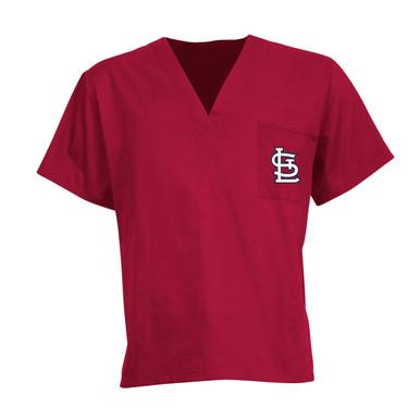 St. Louis Cardinals MLB V Neck Scrub Top