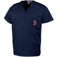 Boston Red Sox MLB V Neck Scrub Top