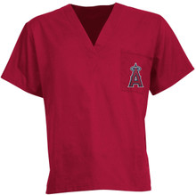 Los Angeles Angels MLB V Neck Scrub Top