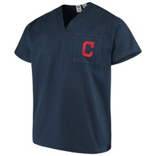 Cleveland Indians MLB V Neck Scrub Top