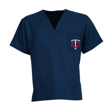 Minnesota Twins Navy MLB V Neck Scrub Top