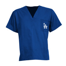 LA Dodgers MLB V Neck Scrub Top