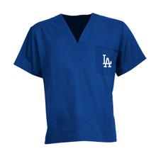 LA Dodgers MLB V Neck Scrub Top