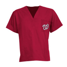 Washington Nationals MLB V Neck Scrub Top