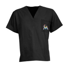Miami Marlins MLB V Neck Scrub Top