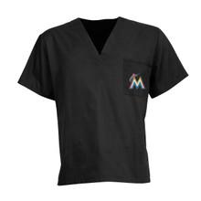 Miami Marlins MLB V Neck Scrub Top