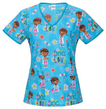 Doc McStuffins Women's Scrub Top