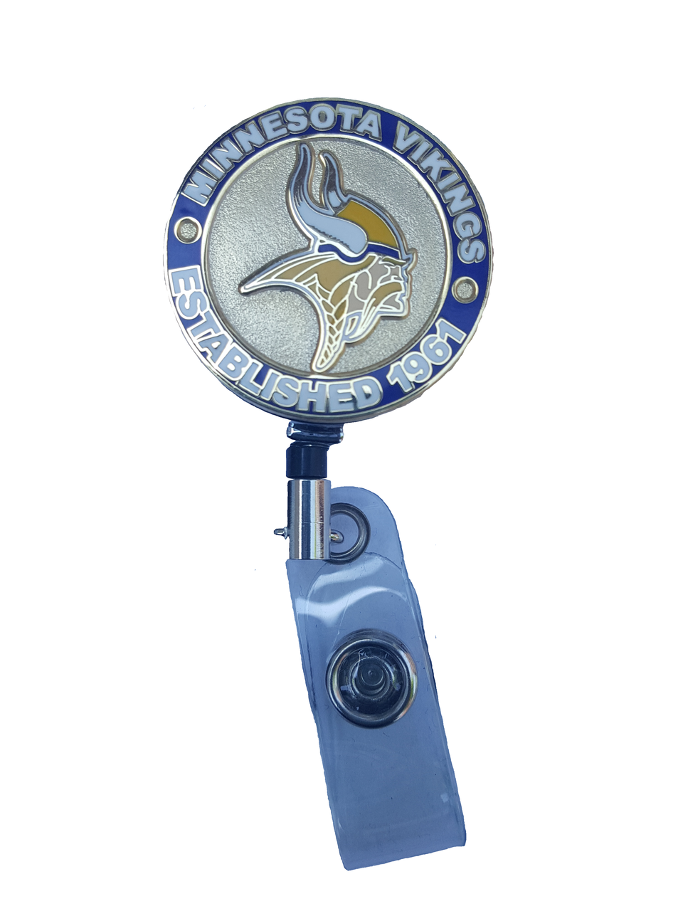 Winking owl button badge reel Comes in red or blue!