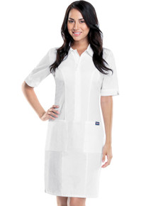 Cherokee Zip Front White Nurses Dress