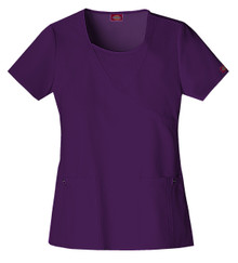 Dickies Xtreme Stretch : Mock Wrap Top 82814 Scrub Top For Women*