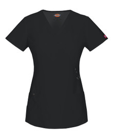 Dickies GenFlex 85956 : Womens Mock Wrap Scrub Top*