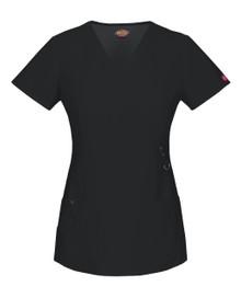 Dickies GenFlex 85956 : Womens Mock Wrap Scrub Top*