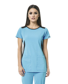 WonderWink HP 6212 : Round Neck Scrub Top For Women