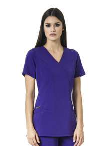 WonderWink HP 6312 : Mock Wrap Scrub Top For Women