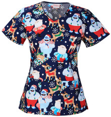 A Christmas Story Scrub Top For Women