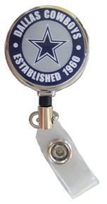 Dallas Cowboys Badge Reel (Retractable)