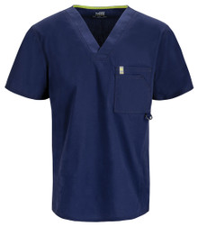 MENS : Antimicrobial Protection V Neck Scrub Top (Embroidered with CDx Logo)