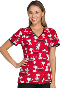 Snoopy - Normal is Boring Scrub Top For Women