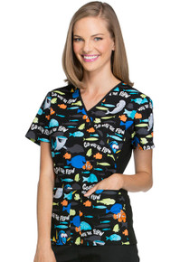 Finding Nemo - Go With The Flow Scrub Top For Women