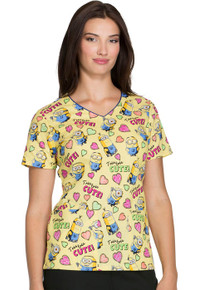 Minions Scrub Top For Women