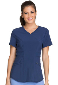 Infinity : Contemporary fit V-Neck Antimicrobial Protection Scrub Top For Women*