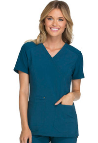 iFlex : Mock Wrap Knit Panel Scrub Top For Women*
