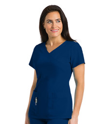 Grey's Anatomy Signature : Stretch 3 Pocket Mock Wrap Scrub Top For Women*