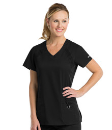 Active by Grey's Anatomy : 3 Pocket V Neck Scrub Top for Women*