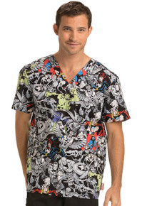 5e5504ef697 Super Hero Scrubs | Disney Scrub Top | Cartoon Scrubs - Scrub Identity