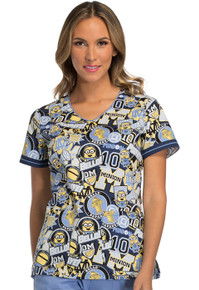 Team Minions Scrub Top for Women