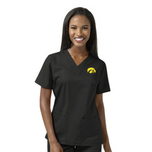 University of Iowa Hawkeyes Women's V Neck Scrub Top*