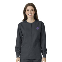 Kansas State Pewter Warm Up Nursing Scrub Jacket (6 Piece K-State Minimum)
