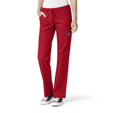 Louisville Cardinals Women's Cargo Straight Leg Scrub Pants