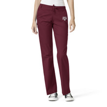 Texas A&M women's Flare leg scrub pants