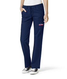 Ole Miss Women's Straight Leg Cargo Scrub Pants*