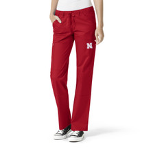 University of Nebraska Cornhuskers Women's Cargo Straight Leg Scrub Pants