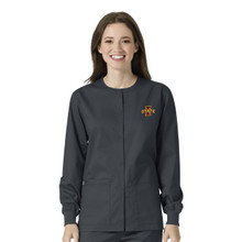 Iowa State Cyclones Pewter Warm Up Nursing Scrub Jacket