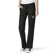 Wichita State Shockers Black Women's Straight Leg Cargo Scrub Pants