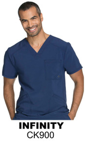 MEN : Athletic Antimicrobial Protection V Neck Scrub Top (Embroidered with Nevro Logo)