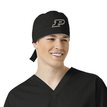 Purdue Boilermakers Black Scrub Cap for Men