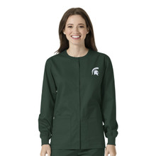 Michigan State Spartans Logo Women's Warm Up Nursing Jacket