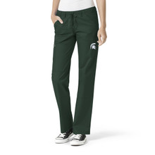 Michigan State Spartans Women's Cargo Straight Leg Scrub Pants*