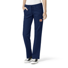 Auburn Tigers Women's Straight Leg Navy Cargo Scrub Pants