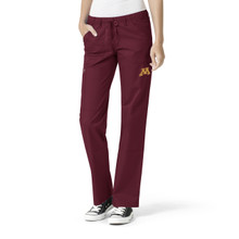 Minnesota Golden Gophers Women's Straight Leg Cargo Scrub Pants