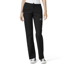 Colorado Buffaloes Women's Flare Black Leg Scrub Pants