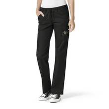 Colorado Buffaloes Women's Straight Leg Black Cargo Scrub Pants