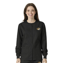 University of Missouri Tigers Black Warm Up Nursing Scrub Jacket